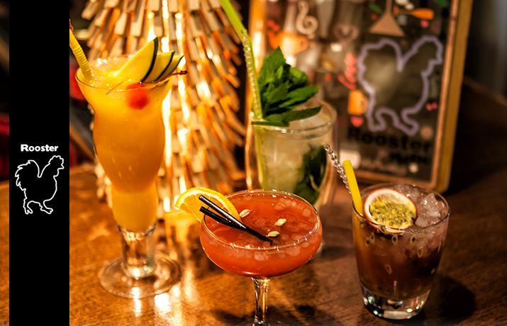Προσφορά HappyDeals  - 8€ από 16€ για 2 Cocktails επιλογής σας στο εναλλακτικό cocktail bar ''Rooster'' στην πλατεία Αγίας Ειρήνης - έκπτωση 50%!