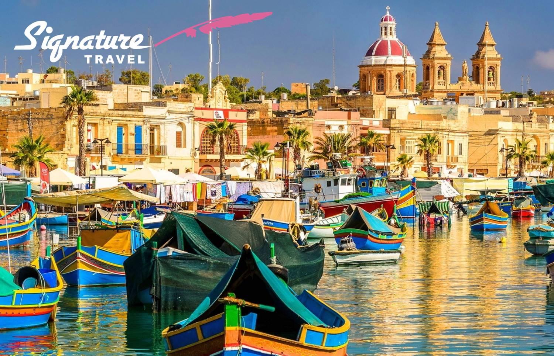ΜΑΛΤΑ με την Υπογραφή του ''Signature Travel'' σε τιμή που δεν ξανάγινε! 299€ για 5 μέρες με Αεροπορικά, Κεντρικό Ξενοδοχείο & Φόρους πληρωμένους εικόνα