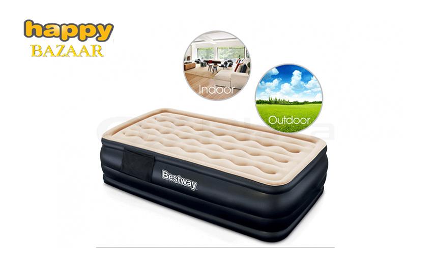 74,5€ από 131€ για το πρακτικό Φουσκωτό στρώμα κρεβάτι μονό Bestway, με ενσωματωμένη αντλία