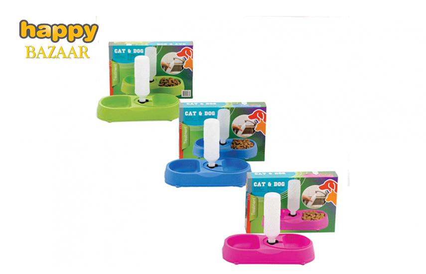 9,5€ από 20,1€ για πλαστικό Μπολ Φαγητού Σκύλου-Γάτας 2 θέσεων, με δοχείου νερού, σε 3 διαφορετικά χρώματα