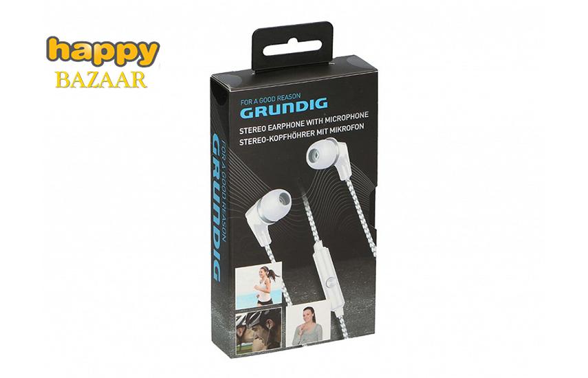 7,9€ από 17,8€ για Ακουστικά Ψείρες Stereo Handsfree, ''Grundig'' με μικρόφωνο, σε λευκό χρώμα
