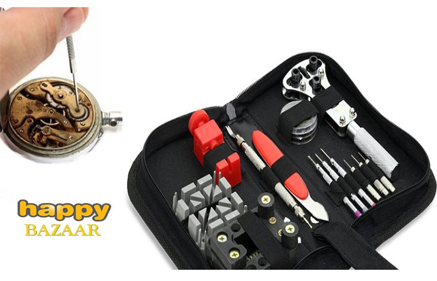14,9€ από 50€ για εύχρηστη Κασετίνα - Σετ Εργαλείων Επισκευής Ρολογιών