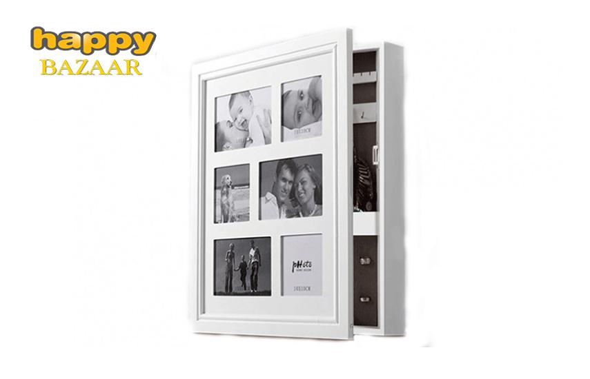 34,9€ από 50,4€ για Ξύλινο ντουλαπάκι κοσμημάτων με πολλαπλές κορνίζες φωτογραφιών, διαστάσεων 44x36x7cm