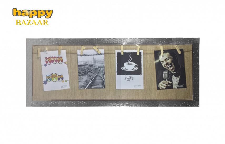 7,9€ από 18€ για Παραλληλόγραμμη Κορνίζα για κρέμασμα φωτογραφιών σε διάσταση 62x26cm, με χώρο για 4 φωτογραφίες