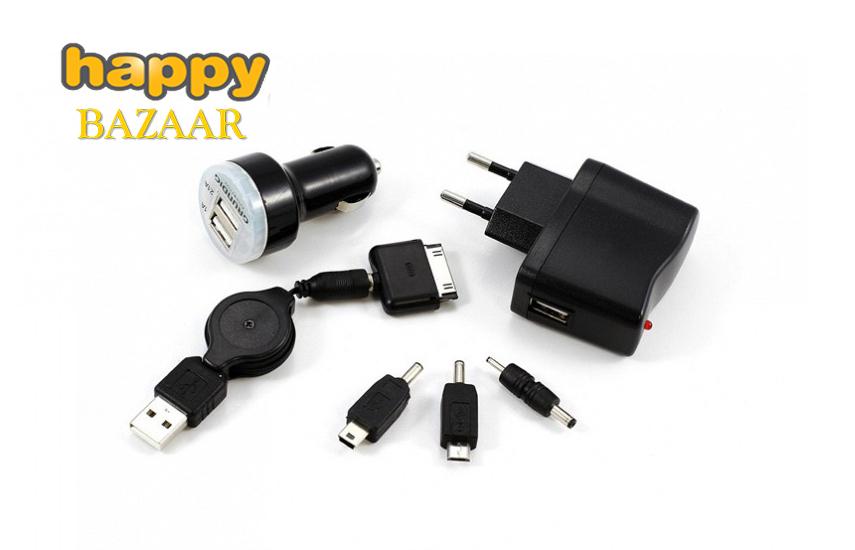 9,50€ από 27,90€ για Σετ Φόρτισης Πολλαπλών συσκευών GRUNDIG 7 τμχ, με USB θύρες και αντάπτορες, για διάφορες συσκευές