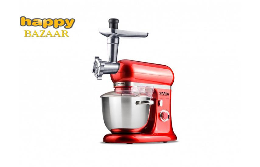 138€ από 378€ για Κουζινομηχανή, Μίξερ - Κρεατομηχανή ''Turbbotronic'', με Κάδο 6lt & ισχύ 1800W, απο ανοξείδωτο ατσάλι & 3 εξαρτήματα της Premium σειράς zMix