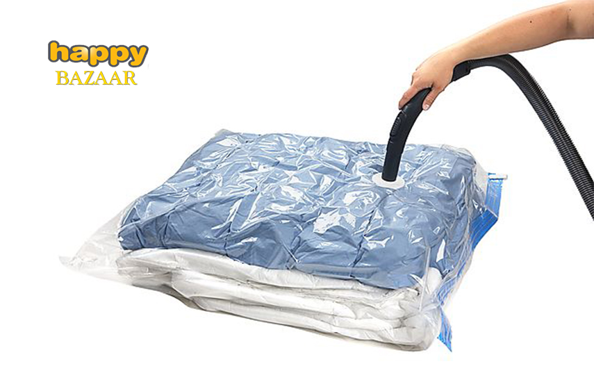 10,9€ από 23,8€ για Σετ 5 Σακούλες Κενού Αέρος για να ελαττώσετε κατά 75% τον χώρο που καταλαμβάνουν τα ρούχα στις ντουλάπες σας εικόνα