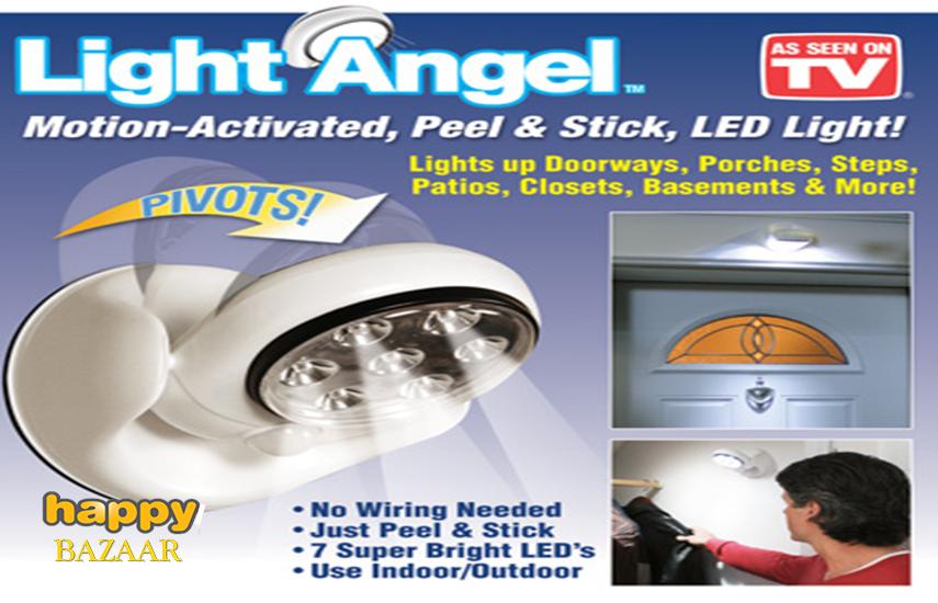 9,5€ από 19,9€ για Φορητό Προβολέα LED ''Light Angel'', με Αισθητήρα Κίνησης