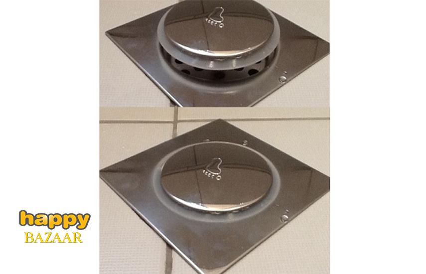 11,50€ από 22,9€ για Ανοξείδωτο Στεγανό Σιφόνι Μπάνιου Τύπου Pop Up, με Ταψάκι 15x15cm