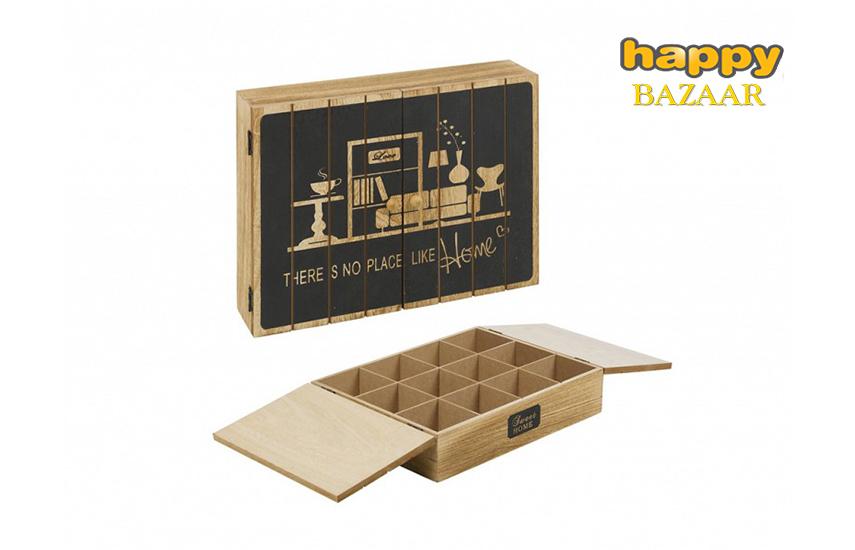 9,99€ από 23.8€ για Ξύλινο Vintage Πρακτικό Κουτί αποθήκευσης ''Arti Casa'', για φακελάκια τσαγιού, με 12 θέσεις