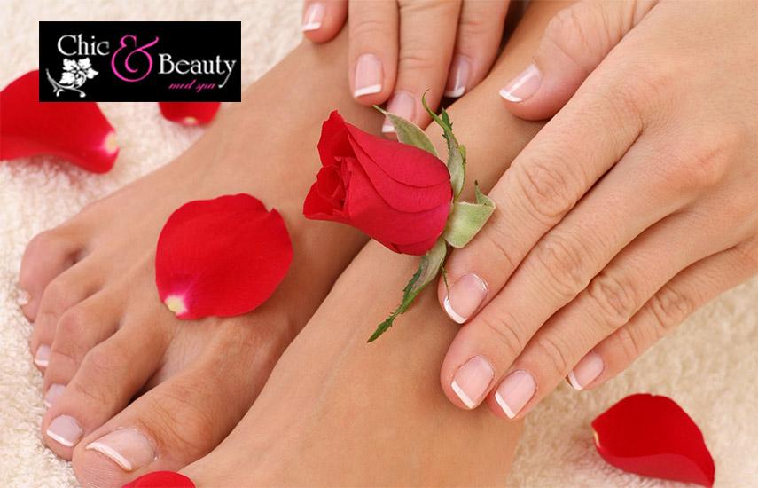 9€ από 22€ για ένα ολοκληρωμένο ημιμόνιμο Manicure χρώμα ή γαλλικό ή Pedicure στο ''Chic & Beauty'', στο Περιστέρι