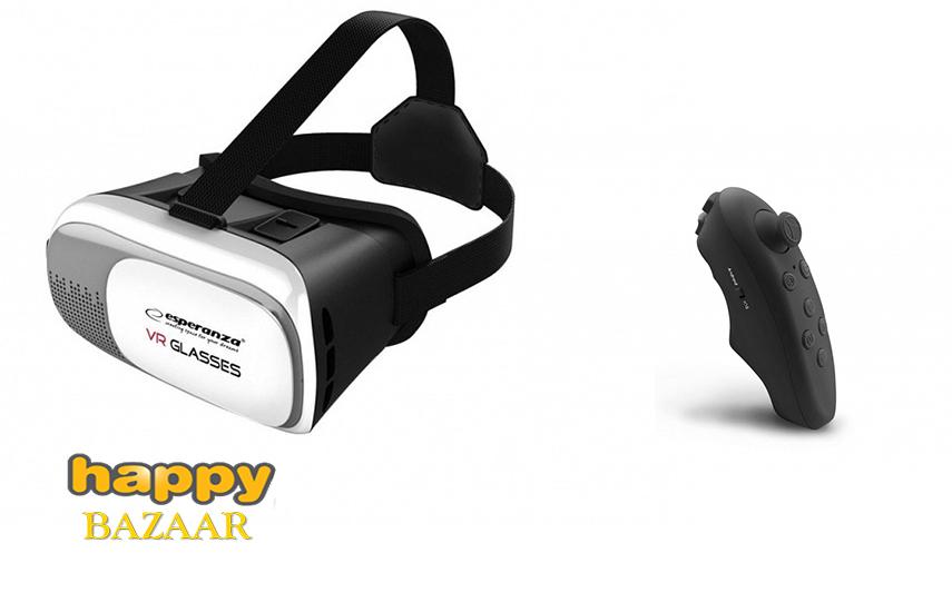 12,90€ από 30€ για σετ Εικονικής Πραγματικότητας (Virtual Reality) ''Esperanza'' με Γυαλιά 3D 360° & Τηλεχειριστήριο Bluetooth
