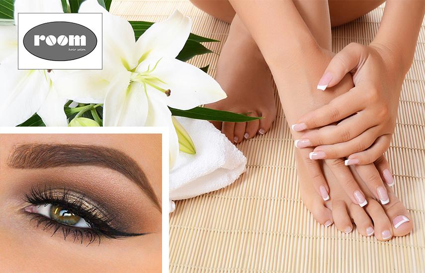 18€ από 40€ για ημιμόνιμο Manicure, Pedicure και δώρο ένα σχηματισμό φρυδιού, στο ολοκαίνουργιο ''Room Hair Salon'' στο Αιγάλεω