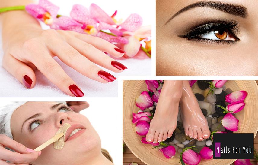 33€ από 80€ για Full Spa Manicure & Pedicure, Φυσική Ενίσχυση με Aκρυλικό, Σχηματισμό Φρυδιών & Αφαίρεση Μουστακιού στο ''Nails for you'' στην Καλλιθέα