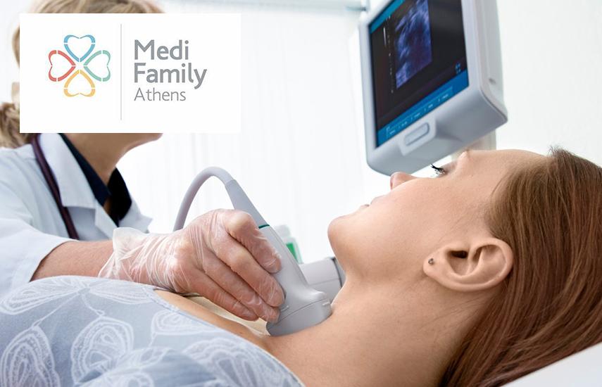 8€ από 90€ για Υπερηχογράφημα Θυρεοειδούς, Κλινική Εξέταση, Αξιολόγηση αποτελεσμάτων & Αγωγή από ενδοκρινολόγο στο ''Medi Family'' στο Μουσείο