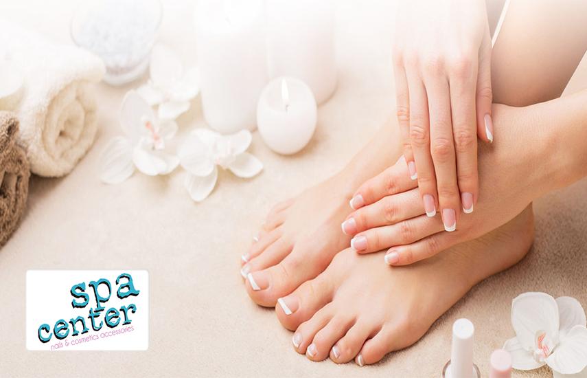 15€ από 40€ για Spa Manicure, Spa Pedicure & Σχηματισμό Φρυδιών - Αποτρίχωση με κλωστή, στο κέντρο ομορφιάς ''Spa Center'' στον Αγ.Στέφανο