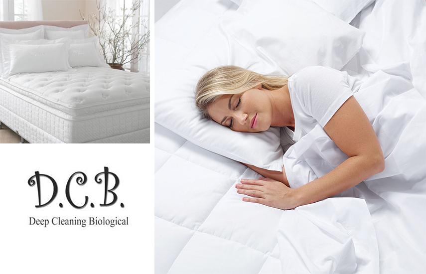 16€ από 25€ για Οικολογικό Βιοκαθαρισμό Στρωμάτων Ύπνου (μονά ή διπλά), για οριστική απαλλαγή από όλους τους μικροοργανισμούς, από την ''DCB Deep Cleaning Biological''