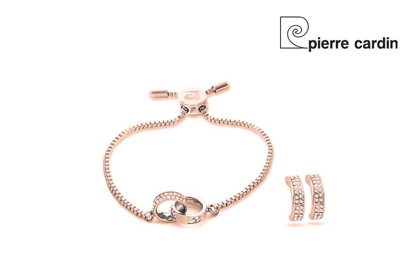 27,9€ από 59,8€ για Σετ με συλλογή Κοσμημάτων ''Pierre Cardin'', από κράμα χρυσού& ρόδιο με Κολιέ και Ζευγάρι Σκουλαρίκια, σε Πολυτελή συσκευασία