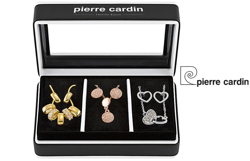 27,9€ από 59,8€ για Σετ με συλλογή Κοσμημάτων ''Pierre Cardin'', από Κράμα Χρυσού, Ροζ Χρυσού, Ασήμι & Ρόδιο, με 3 Κολιέ και 3 Ζευγάρια Σκουλαρίκια, σε Πολυτελή Συσκευασία