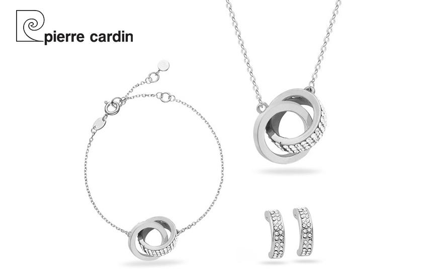 27,9€ από 59,8€ για Σετ με συλλογή Κοσμημάτων ''Pierre Cardin'', από Kράμα Ασήμι, Ρόδιο με Κολιέ Βραχιόλι και Ζευγάρι Σκουλαρίκια σε Πολυτελή συσκευασία