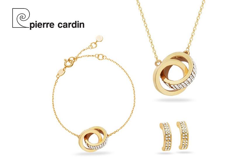 27,9€ από 59,8€ για Σετ με συλλογή Κοσμημάτων ''Pierre Cardin'', από Kράμα Χρυσού, Ρόδιο με Κολιέ Βραχιόλι και Ζευγάρι Σκουλαρίκια σε Πολυτελή συσκευασία