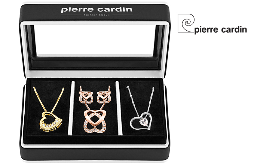 27,9€ από 59,8€ για Σετ με συλλογή Κοσμημάτων ''Pierre Cardin'', από Κράμα Χρυσού & ρόδιο, με 3 Κολιέ και 1 Ζευγάρι Σκουλαρίκια, σε Πολυτελή συσκευασία