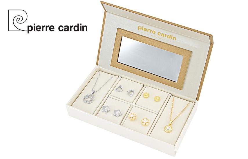 27,9€ από 59,8€ για Σετ με συλλογή Κοσμημάτων ''Pierre Cardin'', από Κράμα Χρυσού & Ρόδιο, με 2 Κολιέ και 4 Ζευγάρια Σκουλαρίκια, σε Πολυτελή συσκευασία
