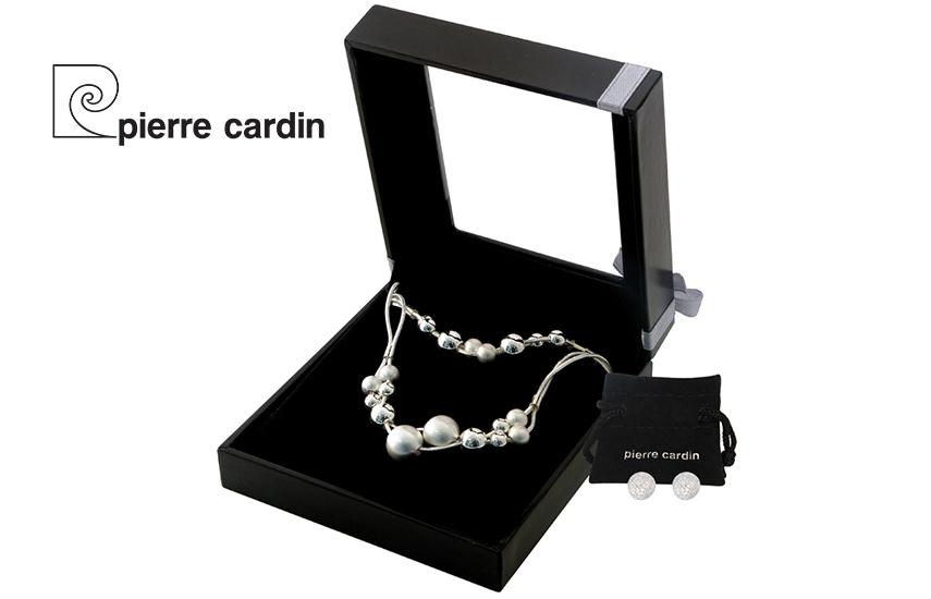 27,9€ από 59,8€ για Σετ με συλλογή Κοσμημάτων ''Pierre Cardin'', από Κράμα Ασημίου & Ρόδιο, με Κολιέ, Βραχιόλι &  Ζευγάρι Σκουλαρίκια, σε Πολυτελή συσκευασία