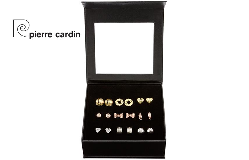 27,9€ από 59,8€ για Σετ με συλλογή Κοσμημάτων ''Pierre Cardin'', από Κράμα Χρυσού & Κράμα Ροδίου, με 9 Ζευγάρια Σκουλαρίκια, σε Πολυτελή συσκευασία