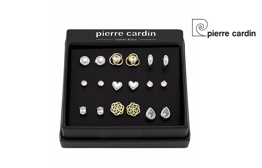 27,9€ από 59,8€ για Σετ με συλλογή Κοσμημάτων ''Pierre Cardin'', από Ανοξείδωτο Ασημί & επιχρυσωμένο, με 9 Ζευγάρια Σκουλαρίκια σε Πολυτελή συσκευασία