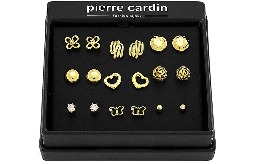 27,9€ από 59,8€ για Σετ με συλλογή Κοσμημάτων ''Pierre Cardin'', από Ανοξείδωτο Ατσάλι & επιχρυσωμένο, με 9 Ζευγάρια Σκουλαρίκια σε Πολυτελή συσκευασία