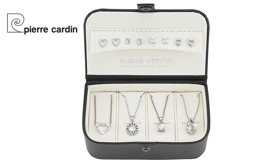 27,9€ από 59,8€ για Σετ με συλλογή Κοσμημάτων ''Pierre Cardin'', από Ανοξείδωτο Ατσάλι, με 4 Ασημί Κολιέ & 4 Ασημί Ζευγάρια Σκουλαρίκια, σε Πολυτελή συσκευασία