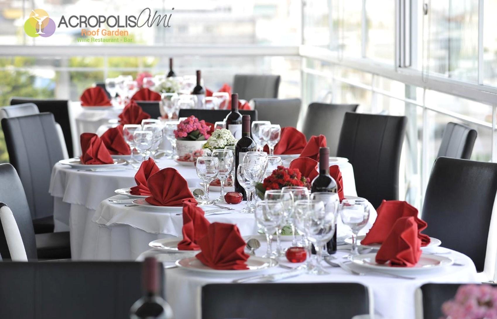 48€ από 80€ για πλήρες menu 2 ατόμων, ελεύθερη επιλογή, στο ''Acropolis Ami Roof Garden'', ένα από τα καλύτερα εστιατόρια της Αθήνας, με μοναδική θέα στην Ακρόπολη και τον Παρθενώνα, στο Λυκαβηττό και το λόφο του Φιλοπάππου