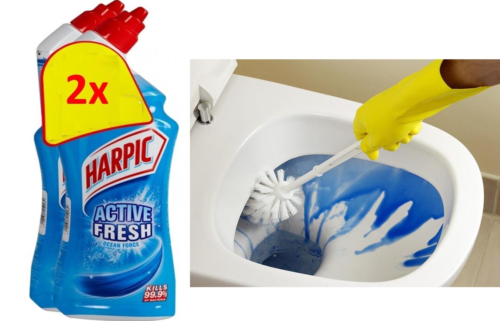 HARPIC Υγρό Καθαρισμού Τουαλέτας Θαλάσσια Φρεσκάδα. 3€ από 7€ για 2 συσκευασίες 750ml! H Καλύτερη τιμή της αγοράς!