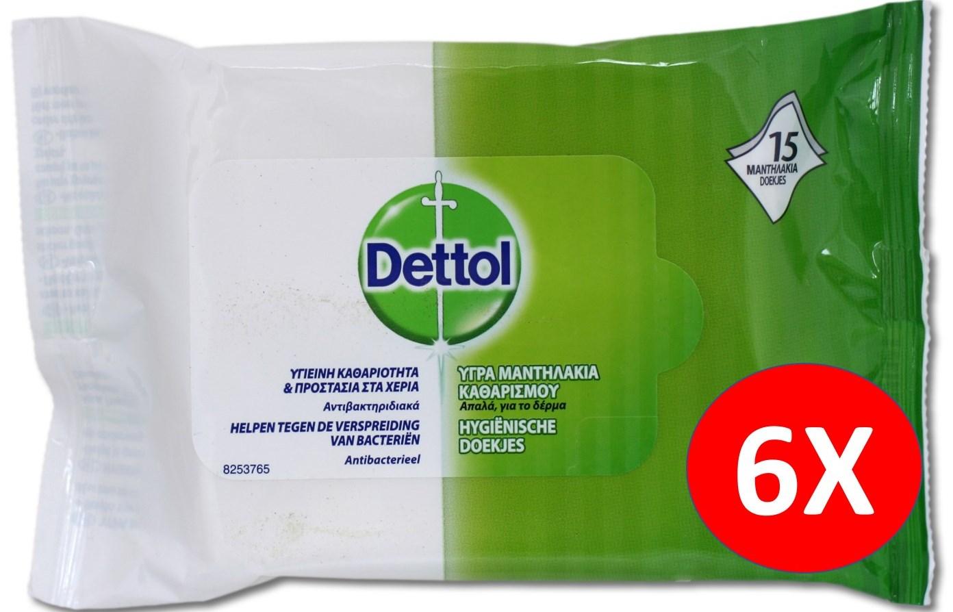 DETTOL Υγρά Μαντηλάκια Προσωπικής Υγιεινής: 6,9€ Από 18€ Για 6 Συσκευασίες Που Εξουδετερώνουν Το 99,9% Των Μικροβίων Ανά Πάσα Στιγμή, Οπουδήποτε! H Καλύτερη Τιμή Της Αγοράς!