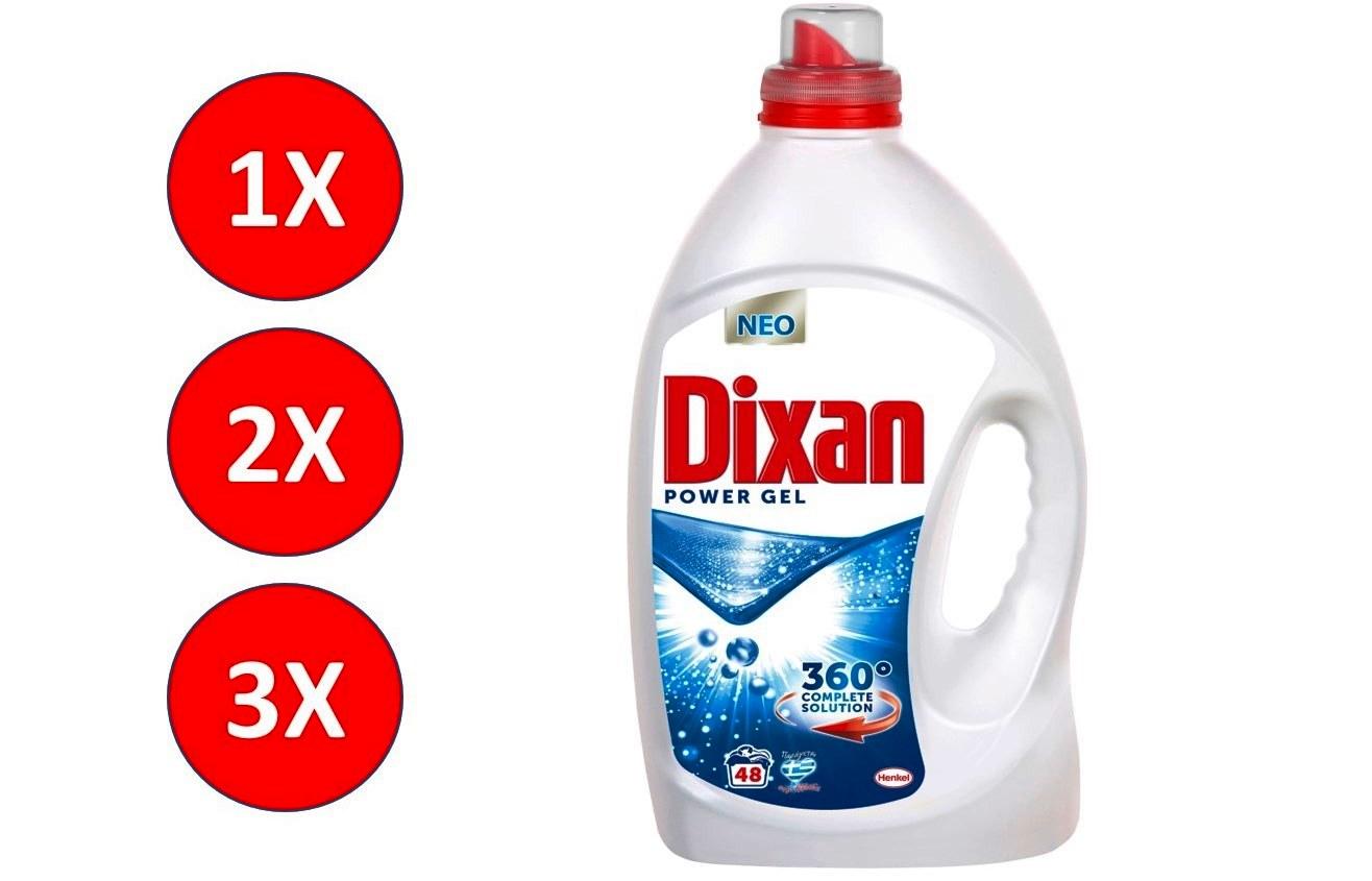 DIXAN Υγρό Gel Απορρυπαντικό Ρούχων OCEAN (μπλε) σε 48-96-144 Μεζούρες! 50% έκπτωση, Η καλύτερη τιμή της αγοράς (από 0,14€/μεζούρα)!