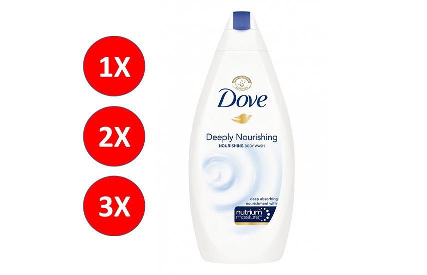 DOVE Αφρόλουτρο 750ml Deeply Nourishing: Από 3,5€ (50% έκπτωση) για 1-2-3 ενυδατικές συσκευασίες, η καλύτερη τιμή της αγοράς