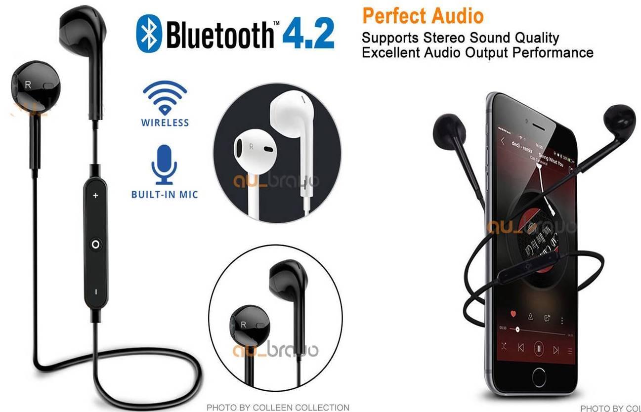 9,9€ Από 25€ Για Ασύρματα Ακουστικά Με Bluetooth 4.2 &Amp; Μικρόφωνο, Για Ακόμα Πιο Σταθερό Σήμα Και Ιδιαίτερα Χαμηλή Κατανάλωση Ενέργειας, Κατάλληλα Για Όλες Τις Συσκευές Σας