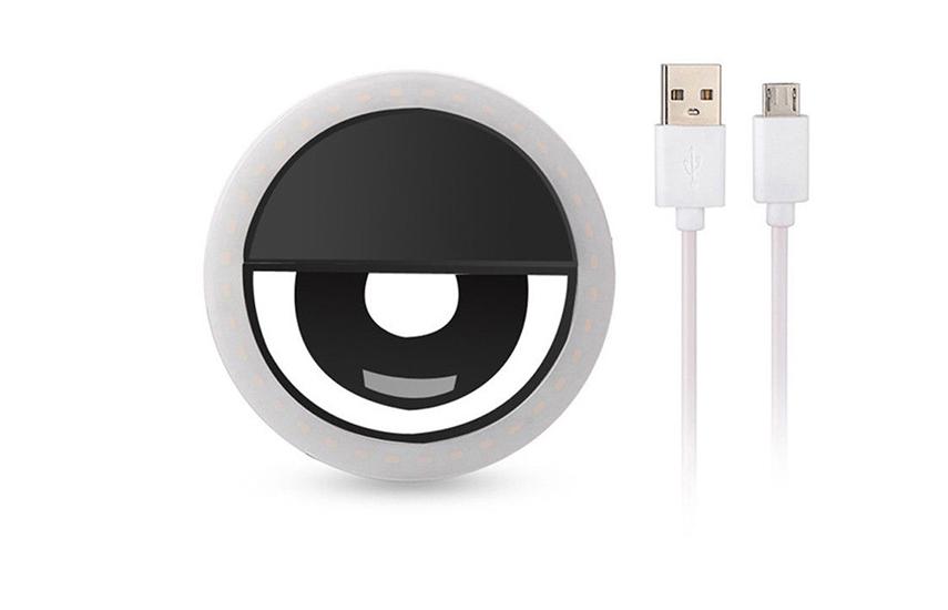 4,9€ από 25€ για Επαναφορτιζόμενο Selfie Ring με καλώδιο φόρτισης USB, για τέλειες selfie, ακόμα και σε απόλυτο σκοτάδι, κατάλληλο για όλα τα smartphone & tablet