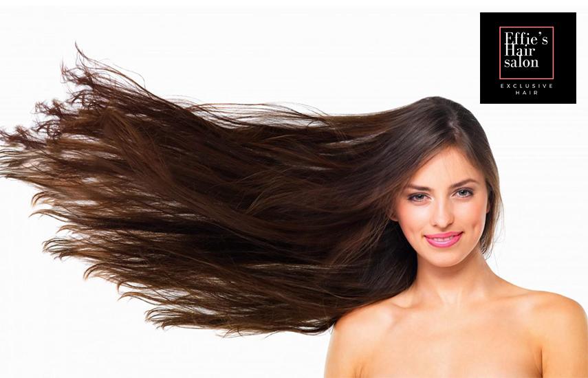 Από 12,9€ για Βαφή, Χτένισμα, Κούρεμα & Θεραπεία Μάσκας, στο φημισμένο ''Effie's Hair Salon'' στο μετρό Αγ. Ιωάννη