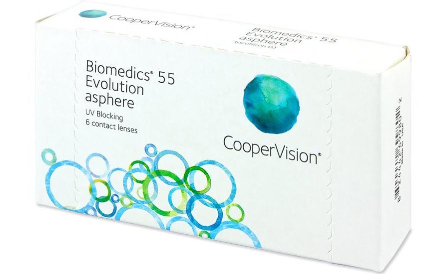 14,90€ από 36€ για 6 Μηνιαίους Φακούς Επαφής CooperVision Biomedics 55 Evolution, με Προστασία UV κατά της Υπεριώδους Ακτινοβολίας, με ΔΩΡΕΑΝ αποστολή σε όλη την Ελλάδα!