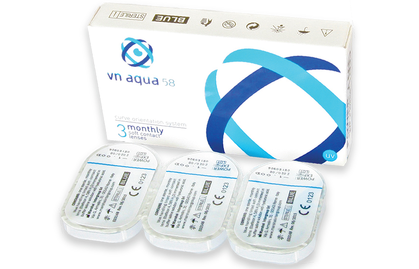 11,50€ από 33,80€ για 6 Ιταλικούς, Μηνιαίους Φακούς Επαφής VN Aqua 58, με ΔΩΡΕΑΝ αποστολή σε όλη την Ελλάδα
