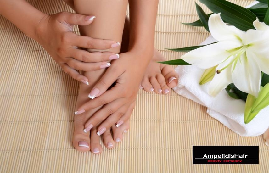 Από 5,9€ για Απλό ή Ημιμόνιμο Manicure & Pedicure στο μοναδικό χώρο του κομμωτηρίου ''Ampelidis Hair'', σε Αιγάλεω & Άγιο Νικόλαο
