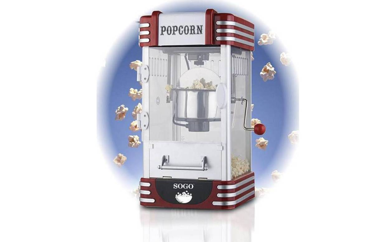 95€ από 229€ για μηχανή pop corn Sogo XXL Πόπ Κόρν 310W Retro Old Fashioned, Pop Corn Maker, PAL-SS-11350