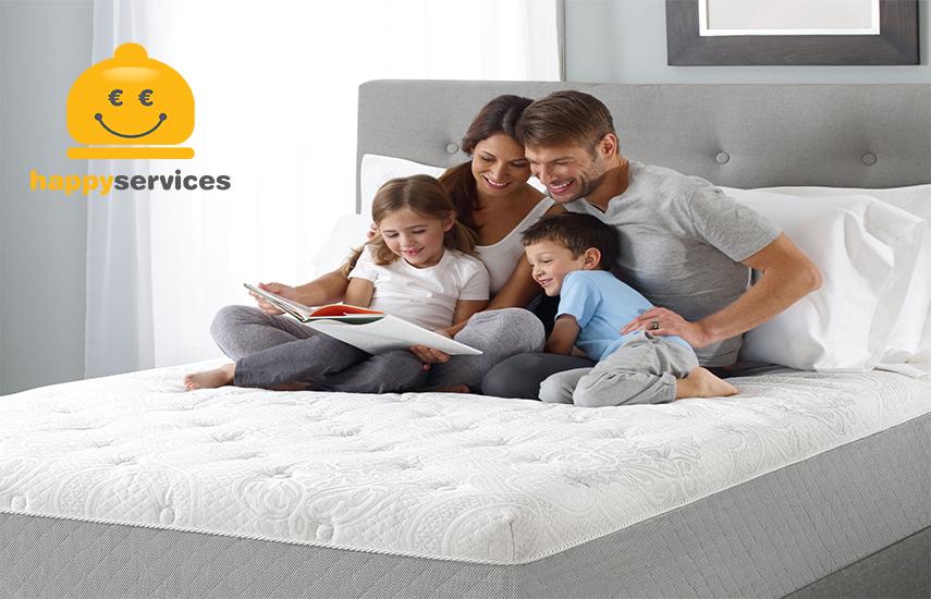 Από 14,9€ για Οικολογικό Βιοκαθαρισμό Στρωμάτων Ύπνου με προϊόντα προηγμένης τεχνολογίας, με την εγγύηση του ''Happydeals Services''. Η καλύτερη τιμή της αγοράς, χωρίς μεσάζοντες & κρυφές χρεώσεις!