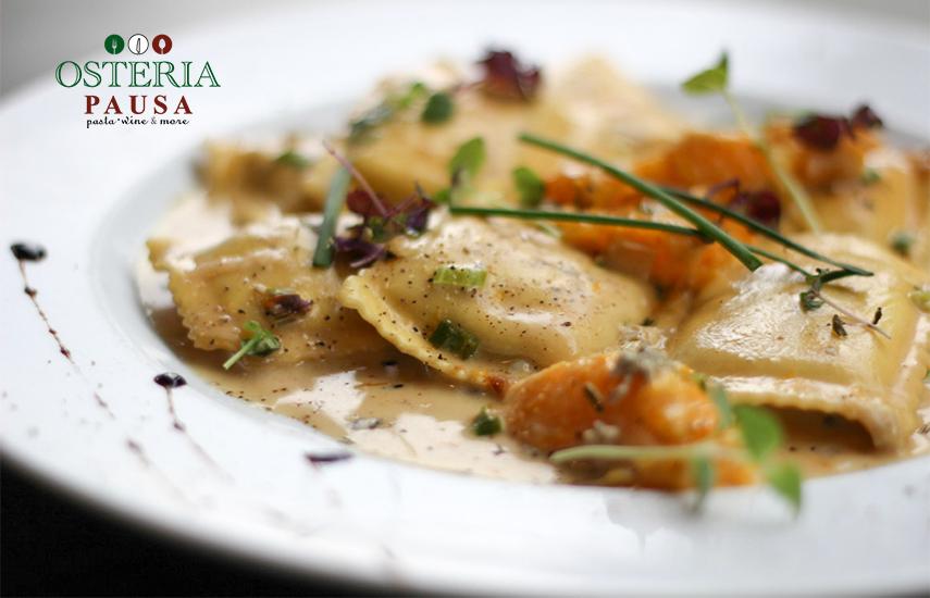 19,9€ από 40€ για menu 2 ατόμων, ελεύθερη επιλογή, στο φημισμένο Ιταλικό εστιατόριο ''Osteria Pausa'' στο Μαρούσι. Απολαύστε ένα υπέροχο γεύμα Δημιουργικής Μεσογειακής Κουζίνας σε ένα από τα πιο γνωστά εστιατόρια της πόλης! εικόνα