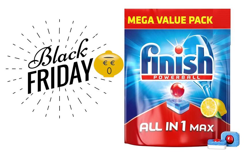 BLACK FRIDAY FINISH Ταμπλέτες Πλυντηρίου Πιάτων ALL IN 1 MAX Lemon: Από 8,9€ για 85-170-255 Ταμπλέτες με Εξελιγμένη Νέα Σύνθεση για Λάμψη & Προστασία! εικόνα