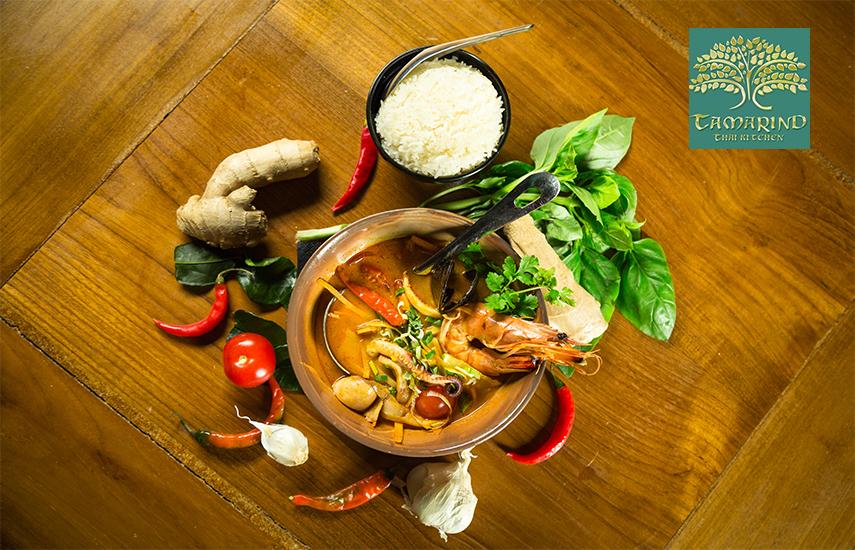 19€ από 40€ για πλήρες menu 2 ατόμων, ελεύθερη επιλογή, στο περίφημο και πολυδιαφημισμένο Ταϊλανδέζικο εστιατόριο ''Tamarind - Thai Kitchen'' στο Μεταξουργείο