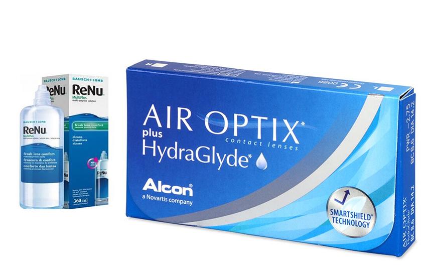 34,5€ από 69€ για 6 Μηνιαίους Φακούς Επαφής Alcon Air Optix με HydraGlyde & 1 Υγρό φακών ReNu 360 ml με ΔΩΡΕΑΝ αποστολή σε όλη την Ελλάδα