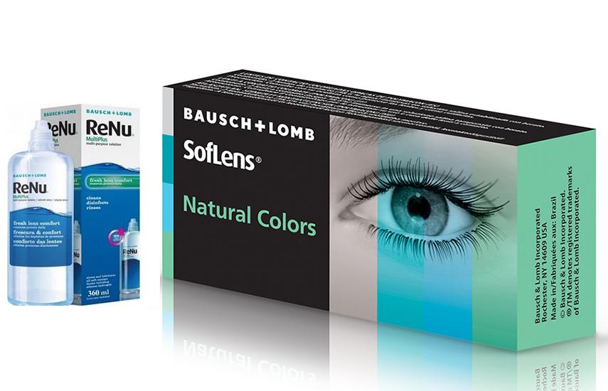 21,9€ από 43,8€ για  2 Μηνιαίους Έγχρωμους Φακούς Επαφής Bausch & Lomb & 1 Υγρό φακών ReNu 360 ml με ΔΩΡΕΑΝ αποστολή σε όλη την Ελλάδα